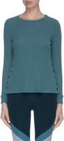 Beyond Yoga 'Your Line' button side ribbed sweater