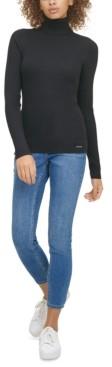 Calvin Klein Jeans Ribbed Long-Sleeve Turtleneck