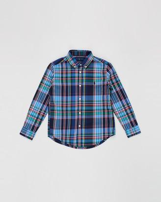 Polo Ralph Lauren Plaid Cotton Poplin Shirt - Kids
