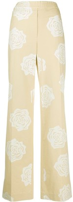 Acne Studios Rose Print High-Waisted Trousers
