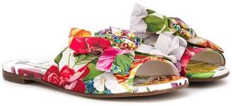 Dolce & Gabbana TEEN floral print sandals
