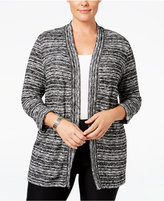 Karen Scott Plus Size Space-Dyed Cardigan, Only at Macy's