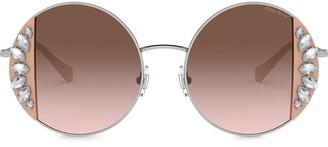Miu Miu Noir crystal-embellished sunglasses