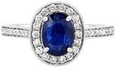 Effy Jewelry Effy Gemma 14K White Gold Diffused Sapphire and Diamond Ring, 1.80 TCW