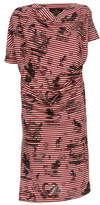 Vivienne Westwood Grateful Print Drape Dress Red