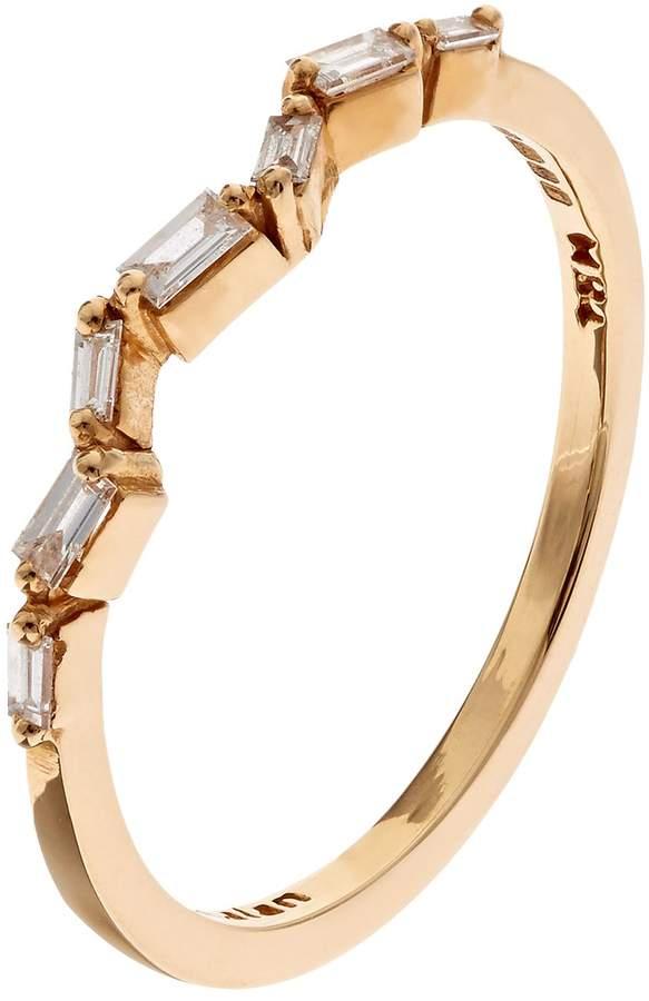 Suzanne Kalan Gold Baguette Diamond Firework Ring
