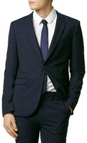 Topman Men's Skinny Fit Navy Blue Suit Jacket