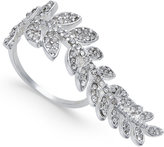 INC International Concepts Silver-Tone Pavé Elongated Leaf Ring, Only at Macy's
