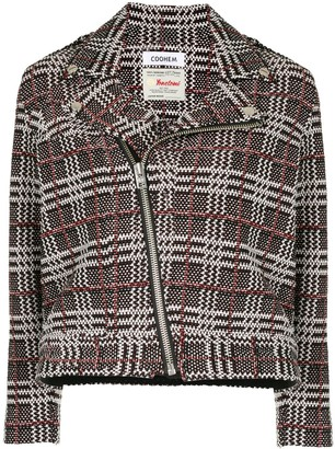 Coohem Retro Check Tweed Jacket