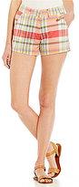Freestyle Plaid Flat-Front Shorts