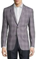 Versace Wool-Blend Plaid Jacket