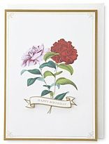 JCPenney MarthaCelebrationsTM Birthday Card – Two Flower Stems