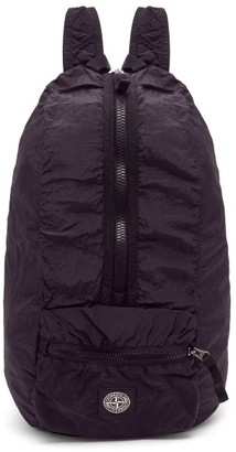 Stone Island Logo-patch Nylon Metal-shell Backpack - Black