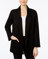Alfani Open-Front Ponte Jacket, Only at Macy's