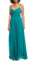 Laundry by Shelli Segal X-Front Pleated Gown
