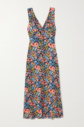 Rixo Sandrine Floral-print Crepe Maxi Dress - Black