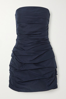 Georgia Alice Betty Strapless Ruched Shell Mini Dress - Navy