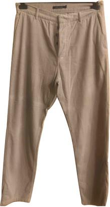 Sofie D'hoore Beige Velvet Trousers
