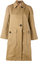 Theory buttoned patch pocket jacket - women - Cotton - XS