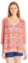 Roxy Juniors Outer Banks 3/4 Sleeve Top