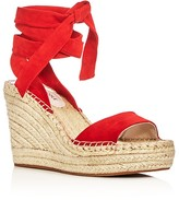 Kenneth Cole Odile Ankle Tie Espadrille Wedge Sandals