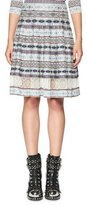 Alexander McQueen Fair Isle Lace-Inset A-Line Skirt, Multi