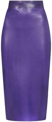 Saint Laurent Latex Pencil Skirt