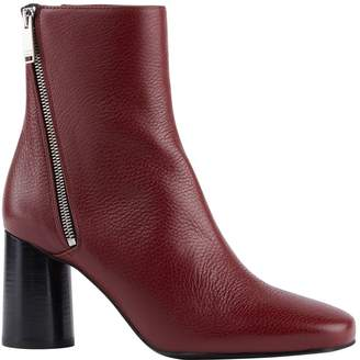 Claudie Pierlot Grained Leather Ankle Boots 85