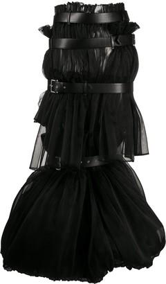 Comme des Garcons Caged Multi-Belt Long Skirt
