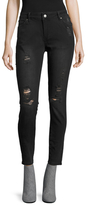 Anine Bing High-Rise Distressed Skinny Jeans