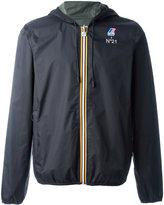 No.21 back logo print jacket - unisex - Polyamide - L
