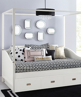 Soft White Hillsdale Tinley Park Canopy Daybed with Trundle