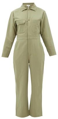 Apiece Apart Totumo Linen-blend Jumpsuit - Womens - Light Green