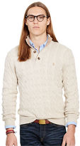 Polo Ralph Lauren Suede-Trim Silk-Blend Sweater