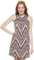 Trixxi Juniors' Print Halter Dress