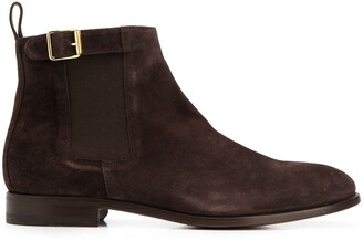 Scarosso Marinella buckled chelsea boots