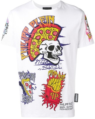 Philipp Plein white graphic T-shirt