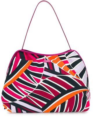 Emilio Pucci Leaf Print Shoulder Bag