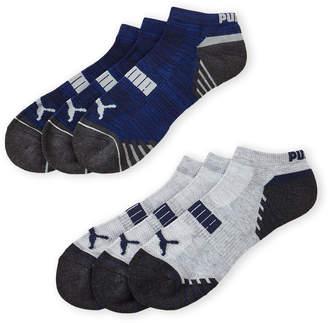 Puma 6-Pack Low Cut Cushioned Logo Socks