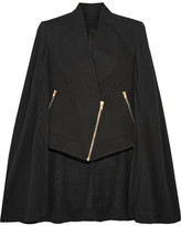 Gareth Pugh Asymmetric Cotton And Silk-blend Crepe De Chine Cape - IT42