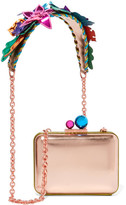 Sophia Webster Vivi Hula Metallic Leather Shoulder Bag - Pink