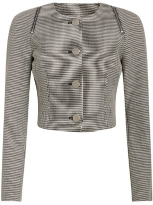 Alexander Wang Cropped Houndstooth Jacket