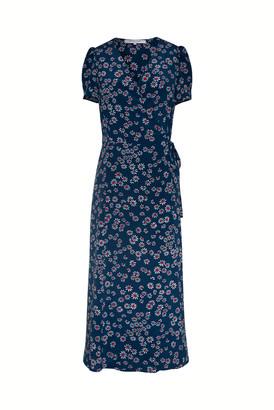 Gerard Darel Sara - Printed Silk Wrap Dress