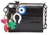 Nancy Gonzalez Gio Crocodile Charm Crossbody Bag, Black