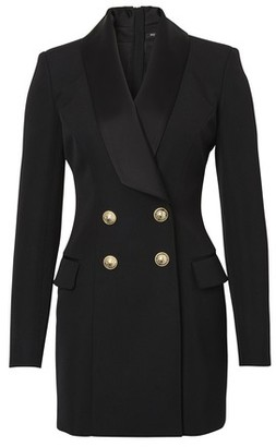 Balmain Wool wrap dress