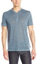John Varvatos Men's Short-Sleeve Burnout Henley Shirt