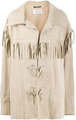 Maison Margiela fringe-trimmed suede jacket
