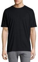 Helmut Lang Cuffed-Sleeve Oversized Short-Sleeve Tee, Black