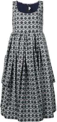 Comme des Garcons geometric print full dress