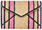 Rebecca Minkoff Leo Straw Envelope Clutch Bag